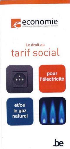Brochure - Le droit au tarif social